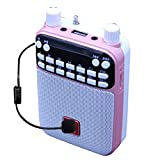 Mr Entertainer Popbox (Pink) Portable Bluetooth Karaoke Speaker, Voice Amplifier & Headset Microphone. Kids Karaoke Machine that works with any Smartphone, iPad or Tablet