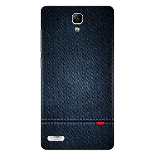 CrazyInk Premium 3D Back Cover for Xiaomi Redmi Note Prime - Blue Leather Texture