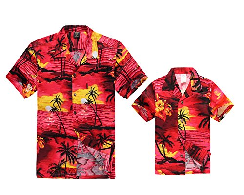 Camisa-hawaiana-del-muchacho-de-la-camisa-de-los-hombres-del-equipo-de-Luau-del-hijo-del-padre-Puesta-de-sol-roja-4XL-10