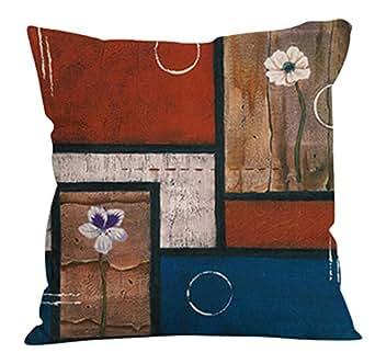 CLOOM Federa Cuscino Home Bed Decor Linen Square Decorativo Lancia Cuscino Fodera per Cuscino Cafe Casa Partito Divano Cuscino Copertura di Tiro Vacanza Cuscino(A,1PC)