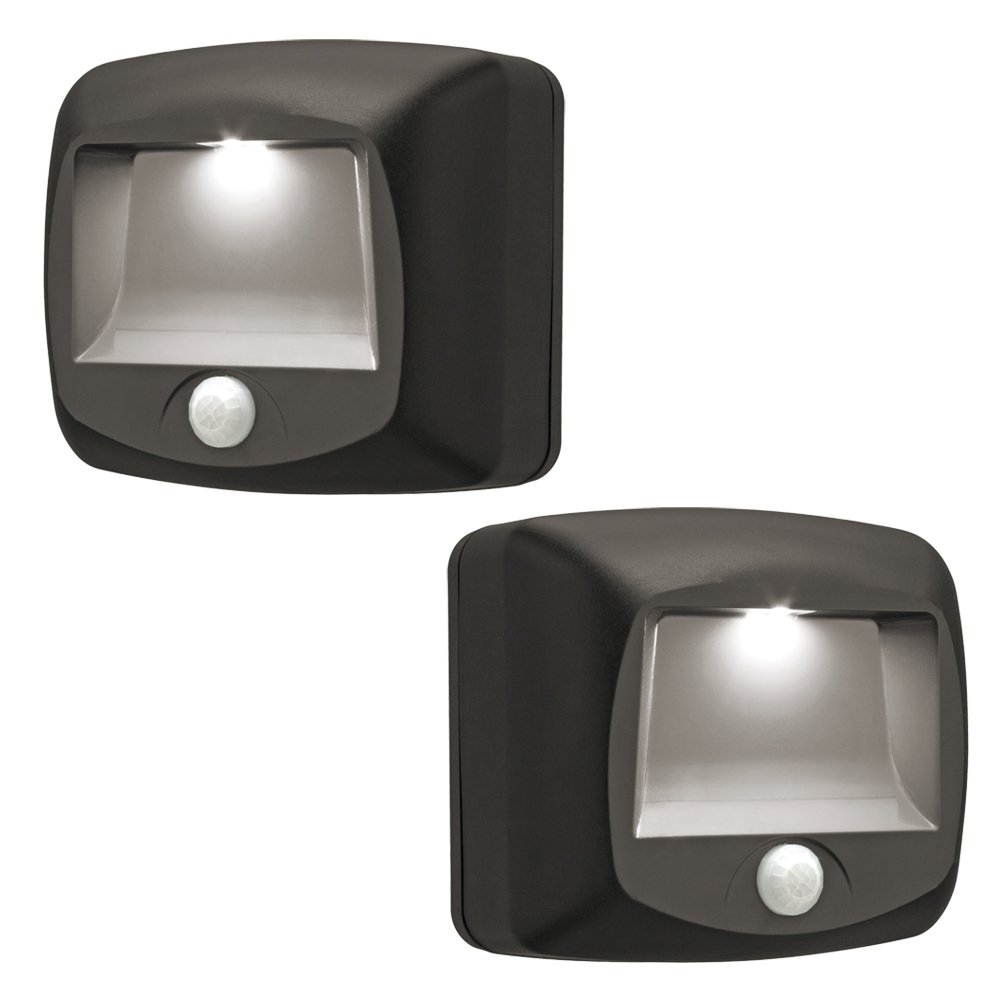 Battery Led Outdoor Lights: Mr. Beams MB522 Wireless Battery Operated Indoor/Outdoor Motion-Sensing LED  Step/Stair Light, 2-Pack, Brown: Amazon.co.uk: Lighting,Lighting