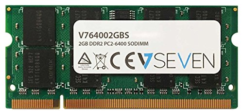 V7 V764002GBS Notebook DDR2 SO-DIMM Arbeitsspeicher 2GB (800MHZ, CL6, PC2-6400, 200pin, 1.8 Volt) -