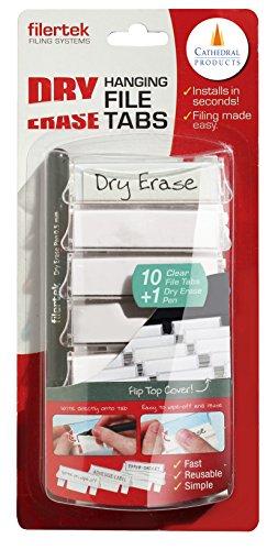 Cathedral Dry Erase Filing secciones, incluye bolígrafo () 10 unidades
