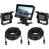 Esky 7-Inch TFT LCD Color Monitor Car Backup Rear View Camera System Night Vision Side Camera