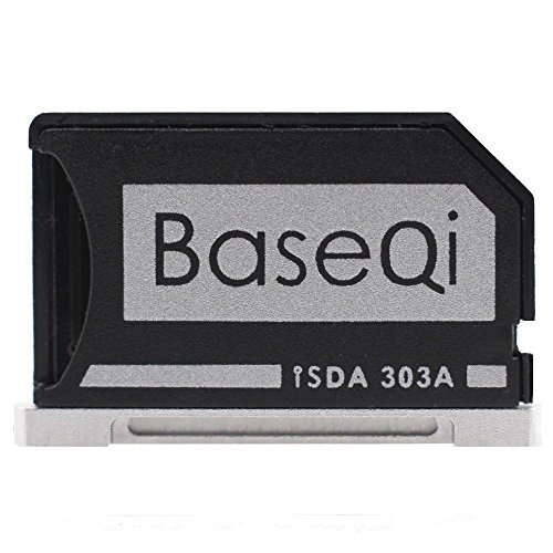 """Micro SD Apapter - Baseqi Aluminium Micro SD Adapter with silver edge for MacBook Pro Retina 13""""/ MBPR* (Memory Card Interne Reader)"""