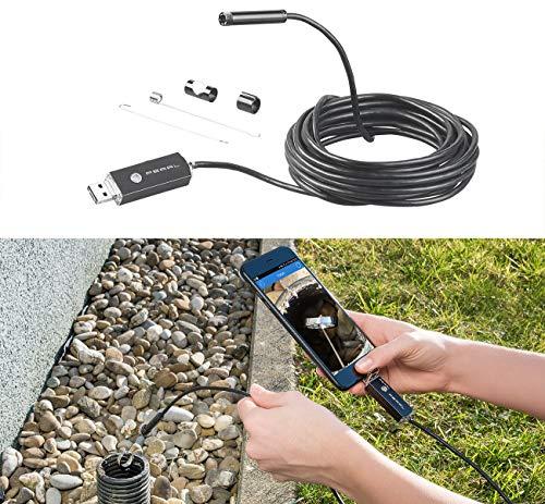 Somikon Endoscope: USB-HD-Endoskop-Kamera für PC und OTG-Android-Smartphone, 5 m, IP67 (Endoskopkameras)
