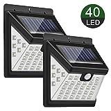 Luz Solar Exterior, Priksia 40 LEDs Foco Solar con Sensor de Movimiento Gran Ángulo 270º Impermeable...