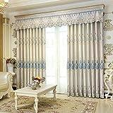 Sonnenschirm Und Perforierte Vorhänge, Luxuriöse Bestickte Vorhänge, Schlafzimmer Tüll Vorhänge (Größe: 2 * 2,7 M, 2,5 * 2,7 M, 3 * 2,7 M) (Farbe : Gray, größe : 3 * 2.7m)