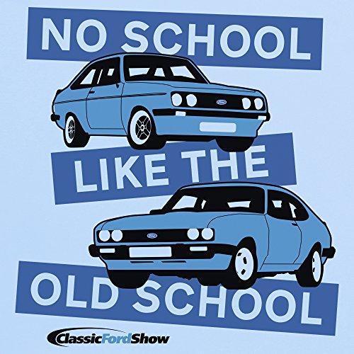 Classic Ford Show Old School T-Shirt, Herren Himmelblau