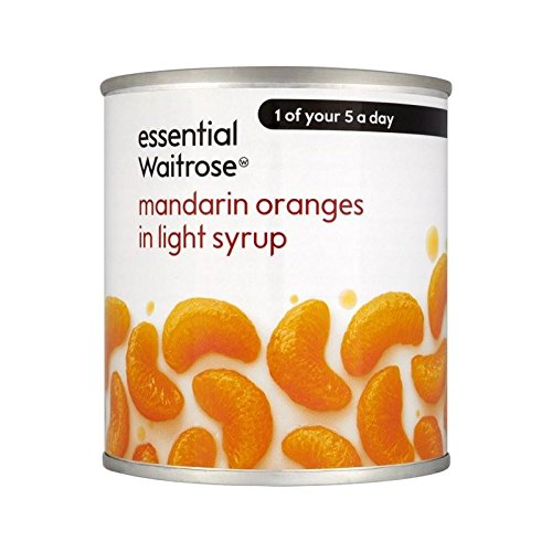 Mandarines Au Sirop Léger Waitrose Essentielle 312G