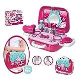 Pickwoo Cosmetici Giocattolo per Bambini Rosa Simulazione di Trucco Sacchetto Bellezza Valigia Giochi di Ruolo per Bambine Ragazze Principessa Giocattoli