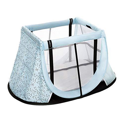Aeromoov ASATC11060BM - Cuna de Viaje para bebé plegable e instantánea con colchón configurable a dos alturas y bolsa de transporte (color Azul Océano, Edición Limitada)