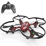 Goolsky Hubsan H107C X4 Mini Drohne RC RTF Quadrocopter mit 30W Kamera für Anfänger (Rot)