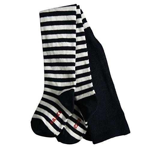 FALKE Falke Baby Strumpfhose Stripe 2er Pack, Größe:62-68 (1-6 Monate);Farbe:Marine (6120)