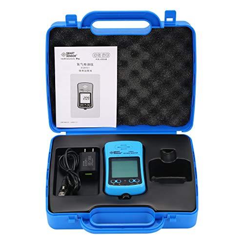 Comomingo Smart Senor AS8901 Handheld Sauerstoffmessgerät für Autos Sauerstoffmessgerät (blau) -