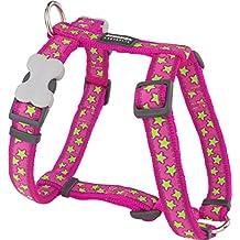 Red Dingo Desinger arnés del perro, color rosa y estrellas (12mm x cuello: 25–39cm/Cuerpo 30–44cm) XS
