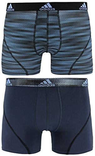 adidas Herren Sport Performance Climalite Trunk Underwear (2Pack), Herren, Blue Ratio Urban Sky Ratio -