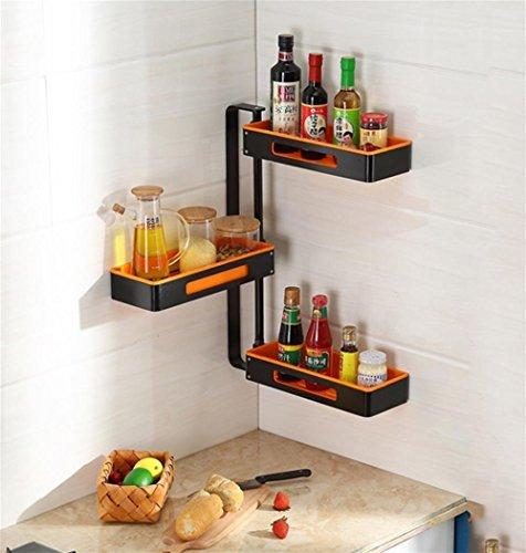 Sql ripiani rotanti angolari da cucina. 3 piani in alluminio , orange