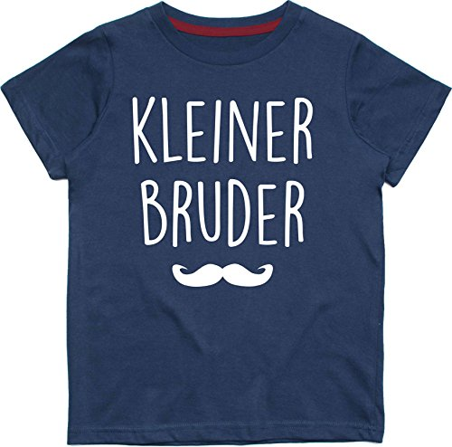 Baby & Kleinkind Marine T-shirt 62-68 KLEINER BRUDER (Design 2) with White Print (Bruder White T-shirt)