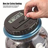 TAOtTAO Klarer Digital Piggy Bank-Münzen-Einsparungens-Zähler LCD, der Geld-Glas-Änderungs-Geschenk zählt