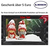 Genuss Weihnachtskarten (10er Set Motiv Pärchen) gefüllt mit Trinkschokolade und einem Geschenk von K.DESIGNS im Wert von 5 Euro