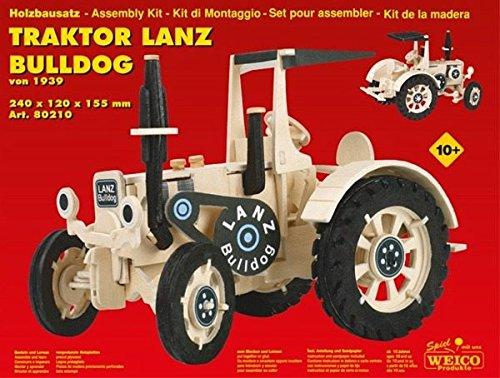 Weico Produkte 80210 - Holzbausatz Traktor Lanz Bulldog Maxi, Konstruktionsspielzeug