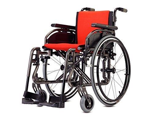 Rollstuhl Verstellbare, Farbe Titan Rollstuhl Titan