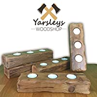 Log Candle and Tea Light Holder Rustic