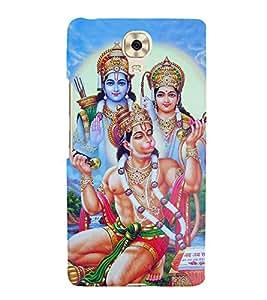 iFasho Designer Back Case Cover for Gionee M6 (Hanuman Hanuman Ring Hanuman Pendant Hanuman Nazar Suraksha Kawach)