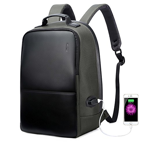 Imagen de bopai negocios  anti robo 15.6 pulgadas portátil  con puerto de carga usb ciudad bolsa de para macbook pro iphone resistente al agua  para portátil verde militar l