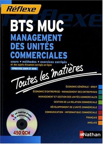 Management des unités commerciales BTS MUC : Toutes les matières (1CD-Rom)