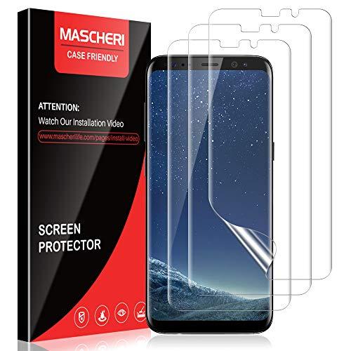 MASCHERI Schutzfolie für Samsung Galaxy S8 Plus, [3 Stück] [TPU-Folie [kein Glas] HD Soft Bildschirmschutz Bildschirmschutzfolie Bildschirm Folie für Samsung Galaxy S8 Plus - klar