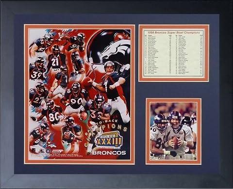 Legends Never Die 1998 Denver Broncos Super Bowl Champions Framed Photo Collage, 11x14-Inch by Legends Never Die