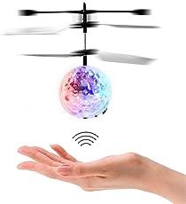 Flying Ball - Fliegender Helikopter RC induktion Heliball Ferngesteuerte mit farbwechselnden LED-Lichtern Indoor Outdoor Spiele für Kinder Jugendliche