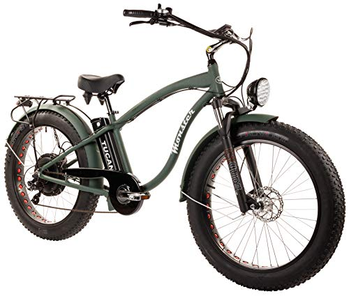 Tucano Bikes Monster 26. Vélo électrique 26' Moteur: 1.000W-48V Suspension Avant Freins hydrauliques Vitesse Maximale: 42km/H Batterie: 48V AH (Vert)