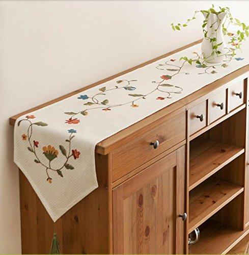 bordado pastoral corredor minimalista moderna mesa de algodón de los países de...