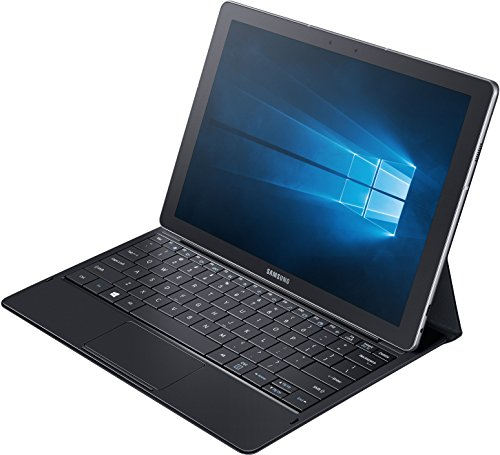 Samsung Galaxy TabPro S SM-W700 30,7 cm (12 Zoll) Tablet-PC (Intel Core m3-6Y30, 4GB RAM, 128GB SSD, Wifi, Windows 10 Home) schwarz inkl. Bookcover mit vollwertiger Tastatur
