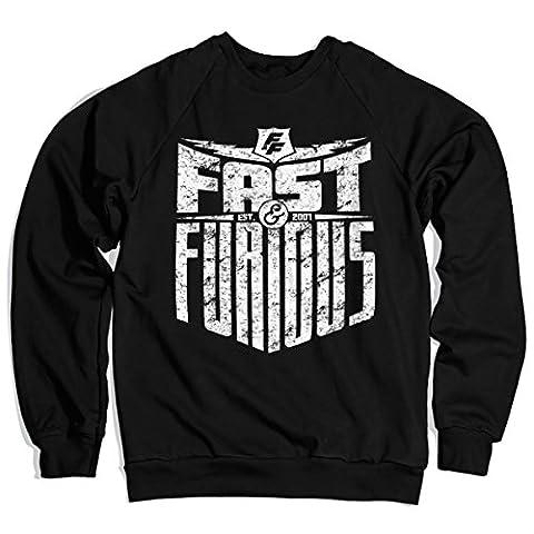 Officiellement Sous Licence Fast & Furious - Est. 2007 Sweatshirt (Noir) X-Large