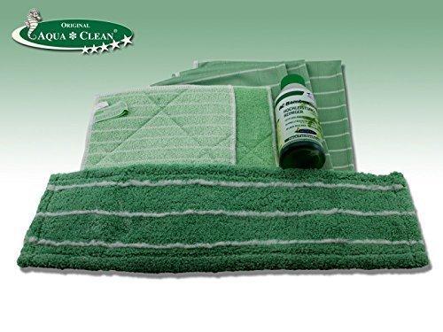 Bambus Kristall Reiniger 7tlg. Set | Bodenmopp | Reinigungstücher | 250ml Reinigungskonzentrat