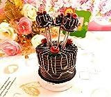 BB.er Creative resina home carino torta in acciaio inossidabile dessert di frutta forca impostato, 5 pz