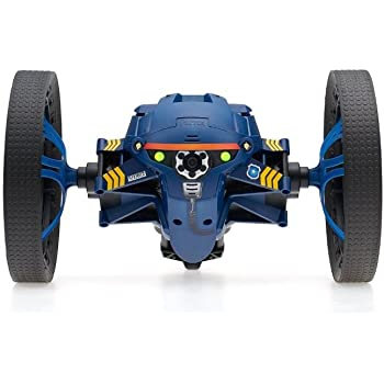Parrot Minidrone Jumping Night Diesel con Luci LED e Microfono, Blu