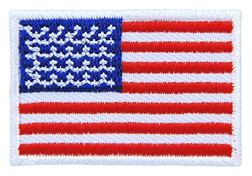 Patch USA Flagge Klein Vereinigte Statten von Amerika Aufnäher Bügelbild Größe 4,5 x 3,0 cm -