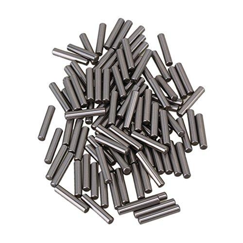 cnbtr Argento Acciaio PCB Board Cilindro Tassello metrico dritto Pins Rod Fissare Elementi 100pezzi (3x 15,8mm) - Metrica In Acciaio Rod