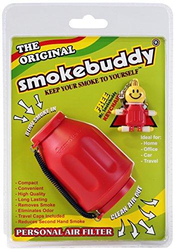 Personal Air Filter - Smoke Buddy keeps smoke to yourself. Red Colour by Smoke Buddy