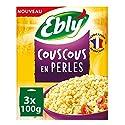 EBLY Couscous en Perles Cuisson 10 Minutes 3 Sachets de 100 g
