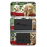Nintendo New 3DS XL Case Skin Sticker aus Vinyl-Folie Aufkleber Golden Retriever Welpen Hund