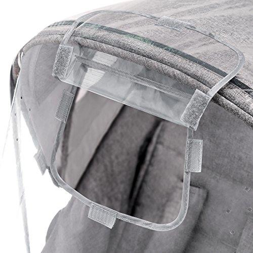 Imagen para Zamboo - Protector de lluvia Universal para Silla de paseo - Burbuja de lluvia con ventana de contacto, buena circulación del aire, fácil montaje, sin PVC