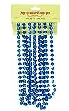 CHRISTMAS CONCEPTS Cadena de Cuentas de Navidad de 9 pies - Guirnaldas de Navidad - Decoraciones navideñas (Azul Real)