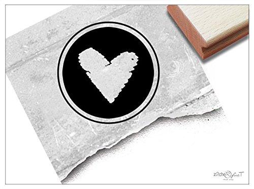 Stempel - Siegelstempel Herz als Poststempel - Wachsstempel Bildstempel Geschenk zur Hochzeit Liebe, Einladung Karten Servietten Deko - zAcheR-fineT