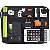 Vmore Nylon Electronics Cosmetics Tool Organizer Pouch For Ipad/Iphone/Tablet (Black)